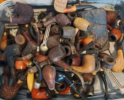 Unrestored estate pipes